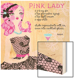 Pink Lady Drink Recipe Wood Sign