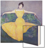 Lady in a Yellow Dress, 1899 Wood Print by Max Kurzweil