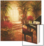 Illuminated Music Room Wood Print by  Foxwell