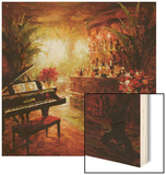 Illuminated Lounge Wood Print by  Foxwell