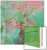Bohemian Blooms Wood Print by Jeanne Wassenaar