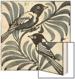 Bluebirds (W/C on Paper) Wood Print by William De Morgan