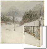 The White Veil, 1909 Wood Print by Willard Leroy Metcalf