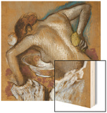 Woman Washing Her Back with a Sponge; Femme S'Epongeant Le Dos Wood Print by Edgar Degas