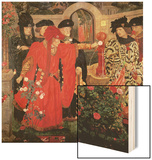 Choosing the Red and White Roses in the Temple Garden, 1910 Wood Print by Henry Payne