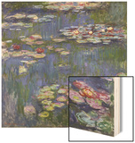 Water Lilies (Nympheas), c.1916 Wood Print by Claude Monet