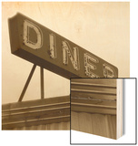 Diner Sign Wood Print by Walter Robertson