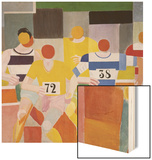 Les Coureurs, 1926 Wood Print by Robert Delaunay