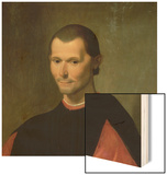 Portrait of Niccolo Machiavelli (1469-1527) (Detail of 62196) Wood Print by  Santi di Tito