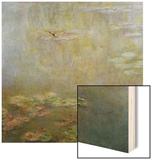 Waterlilies Wood Sign by Claude Monet