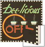 Dee-licious Coffee Wood Sign by Kate Ward Thacker