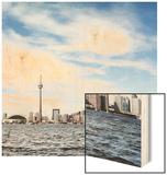 Skyline of Toronto, Ontario, Canada with Lake Ontario Wood Print by Christopher Stevenson