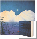 A Winter Night in the Mountains Wood Print by Harald Oscar Sohlberg