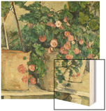 Still Life with Petunias, about 1885 Wood Print by Paul Cézanne