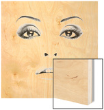 Picture Of Woman's Face With Professional Makeup Wood Print by  ustin