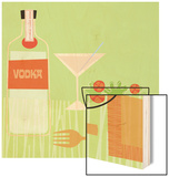 Vodka and Salad Wood Print