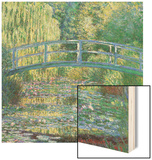 Waterlily Pond Green Harmony Wood Print by Claude Monet