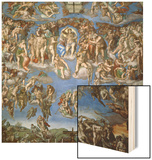 The Last Judgement, 1534-41 Wood Print by  Michelangelo Buonarroti