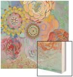 Bohemian Blossoms Wood Print by Jeanne Wassenaar