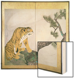 Tiger Screen, Japanese, 1781 (Ink, Colour and Gold on Paper) Wood Print by Maruyama Okyo