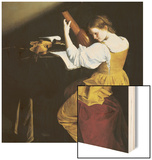 The Lute Player Wood Print by Orazio Gentileschi