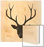 The Black Deer Wood Print by Ruben Ireland
