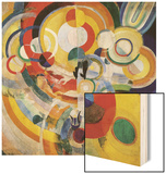 Carousel with Pigs Wood Print by Robert Delaunay