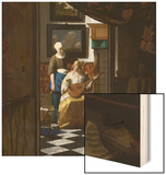 The Love Letter Wood Print by Jan Vermeer