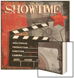 Showtime Wood Sign by Sandra Smith