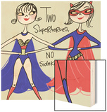 Superhero Friends Wood Print