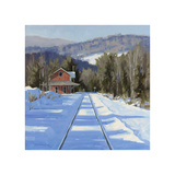 Winter Crossing Giclee Print by Fenner Ball