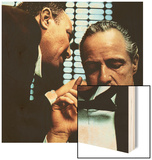The Godfather, Salvatore Corsitto, Marlon Brando, 1972 Wood Print