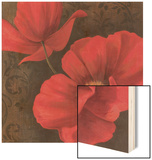 Rouge Poppies II Wood Sign by Jordan Gray