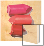 Stack of broken lipstick Wood Print by Jack Miskell