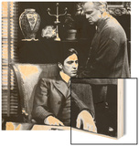 The Godfather, Al Pacino, Marlon Brando, 1972 Wood Print