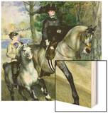 Horsewoman in the Bois de Boulogne Wood Sign by Pierre-Auguste Renoir