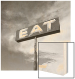 "Vintage ""Eat"" Restaurant Sign Wood Print by Aaron Horowitz"