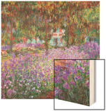 Monet's Garden at Giverny Wood Print by Claude Monet