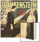 Frankenstein, Boris Karloff, Mae Clarke, 1931 Wood Sign