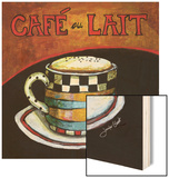 Cafe Au Lait Wood Print by Jennifer Garant