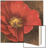 Rouge Poppies I Wood Sign by Jordan Gray