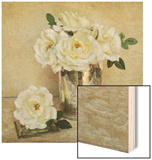 Rosey Sheen 1 Wood Sign by Cristin Atria