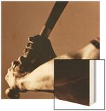Bat in Batter's Hands Wood Print by Patrik Giardino