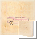 Pink Car Wood Print by Lauren Hamilton