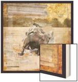 Taurus of Wall Street Wood Print by Andrew Sullivan