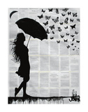 Butterfly Rain Art by Loui Jover