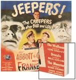 Bud Abbott & Lou Costello Meet Frankenstein, 1948 Wood Print