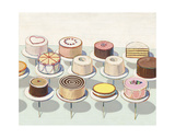 Cakes, 1963 Print by Wayne Thiebaud