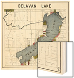 1921, Delavan Lake, Wisconsin, United States Wood Print