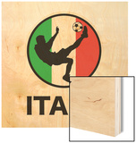 Italy Soccer Wood Print